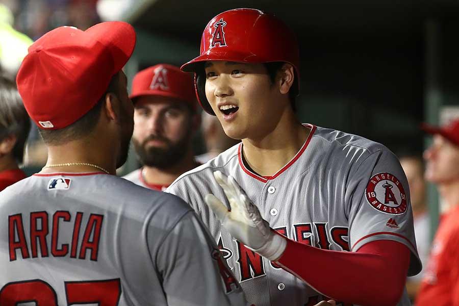 現役投手ではジャイアンツのバムガーナーの17本塁打にあと1本に迫った大谷【写真:Getty Images】