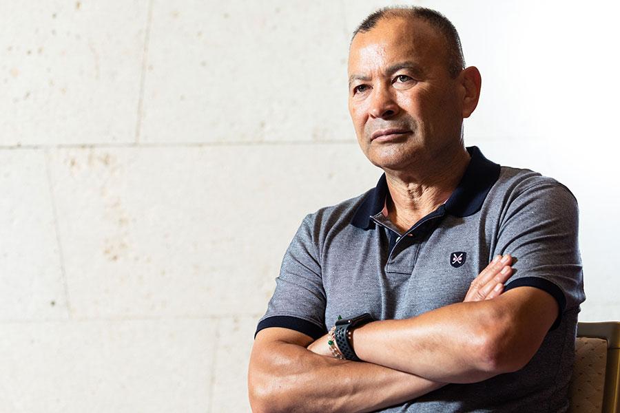 ラグビーの前日本代表ヘッドコーチ(HC)で、現イングランド代表HCのエディー・ジョーンズ氏【写真:松橋晶子】