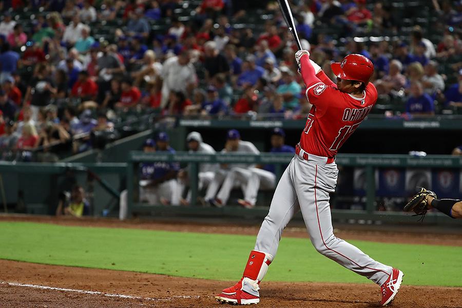 日本人野手のMLB1年目の最多本塁打記録に並んだエンゼルス・大谷【写真:Getty Images】