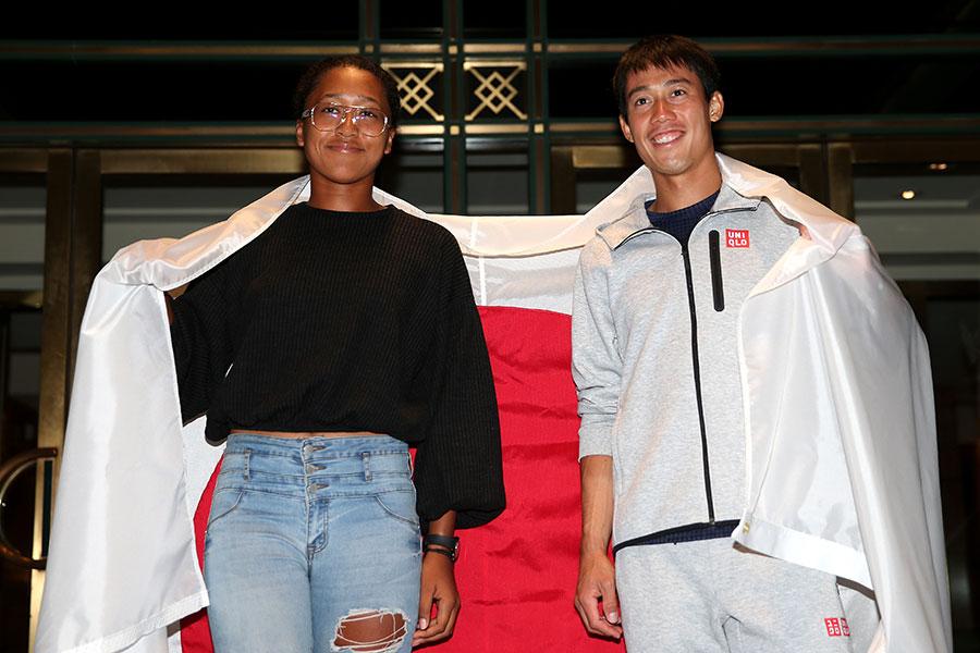 全米オープンそろって準決勝に進出した錦織圭と大坂なおみ【写真:Getty Images】