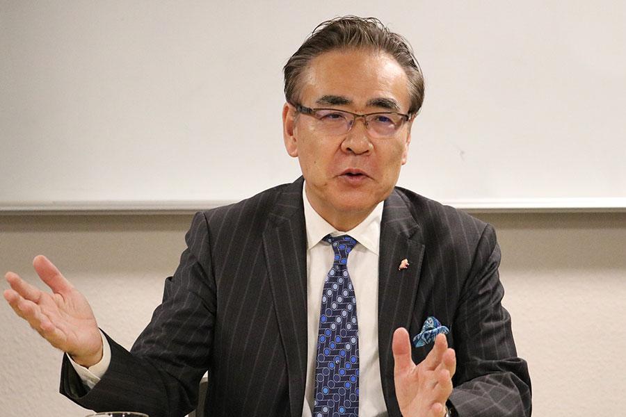 LCA国際学園の創始者でもある山口紀生学園長【写真:編集部】