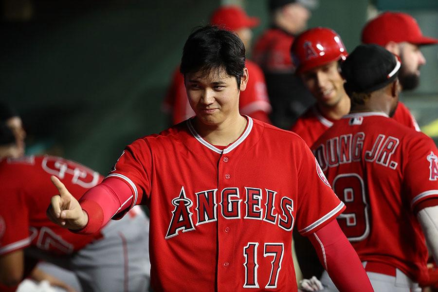 打者・大谷翔平の豪快なバッティングに続々と称賛の声が上がっている【写真:Getty Images】