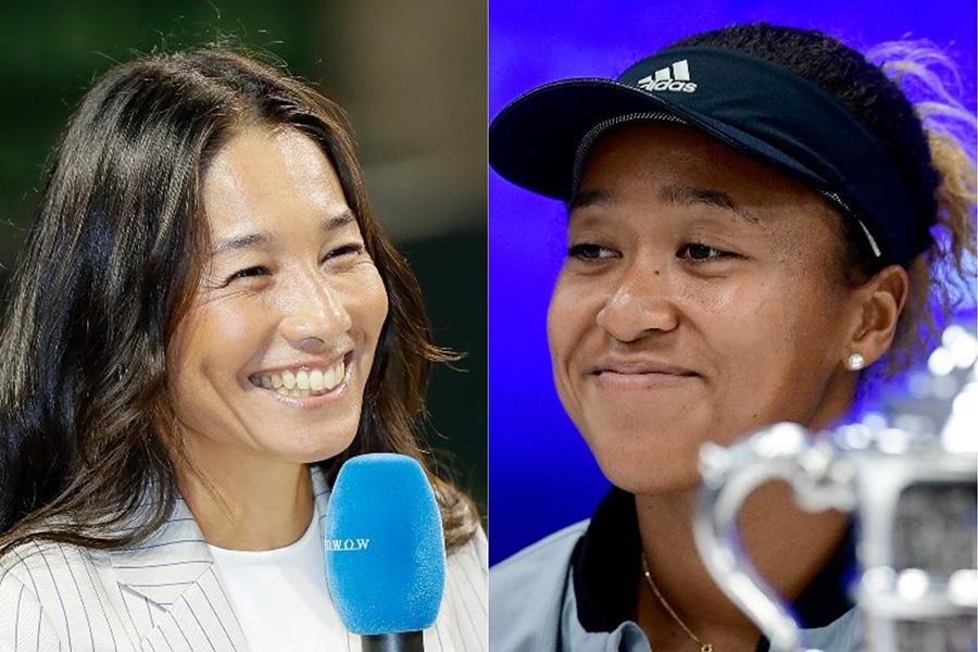 伊達公子さん(左)が大坂なおみの全米オープン優勝を祝福【写真:Getty Images】