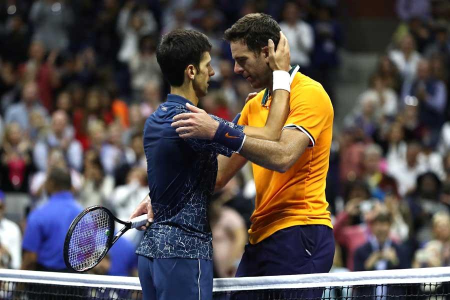 ジョコビッチ(左)がデル・ポトロを下し全米オープンを制覇した【写真:Getty Images】