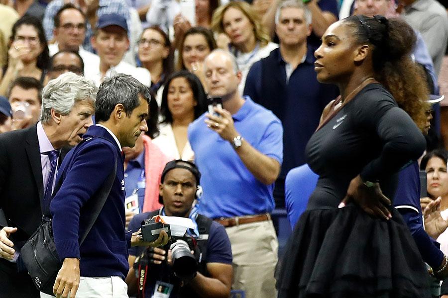 セリーナ・ウィリアムズによるラモス主審に対する暴言を受け、審判たちにはボイコットの動きも【写真:Getty Images】