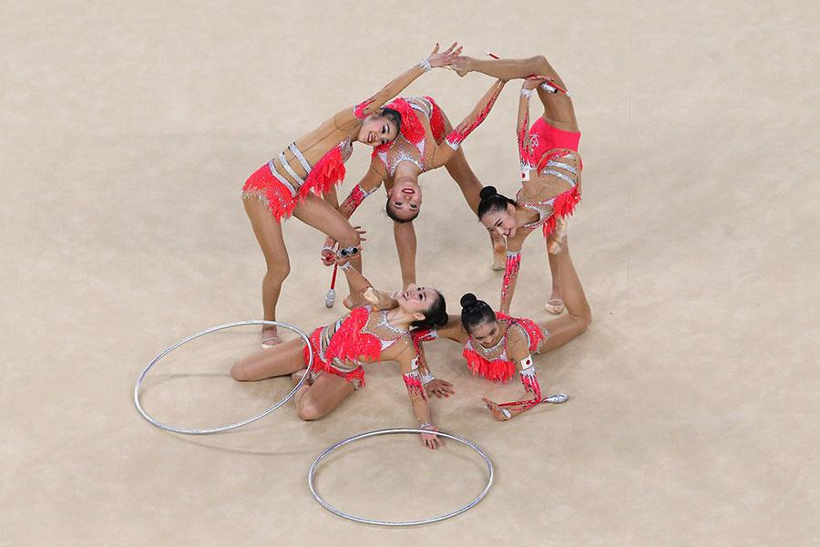 リオ五輪でも華やか演技を披露した「フェアリージャパン POLA」【写真:Getty Images】