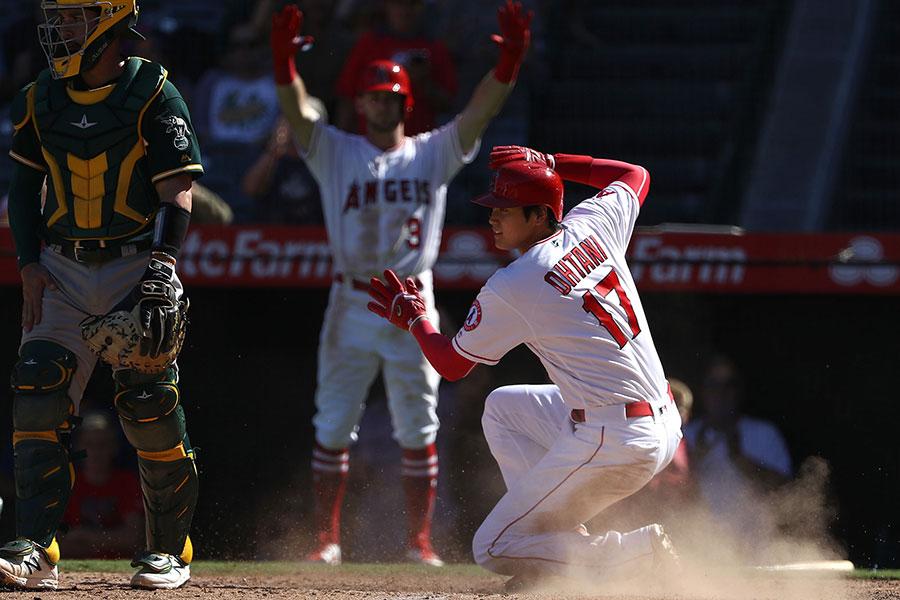 今季最終戦でも勝利に貢献したエンゼルス・大谷翔平【写真:Getty Images】