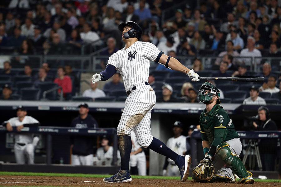 豪快な本塁打を放ったヤンキースのスタントン【写真:Getty Images】
