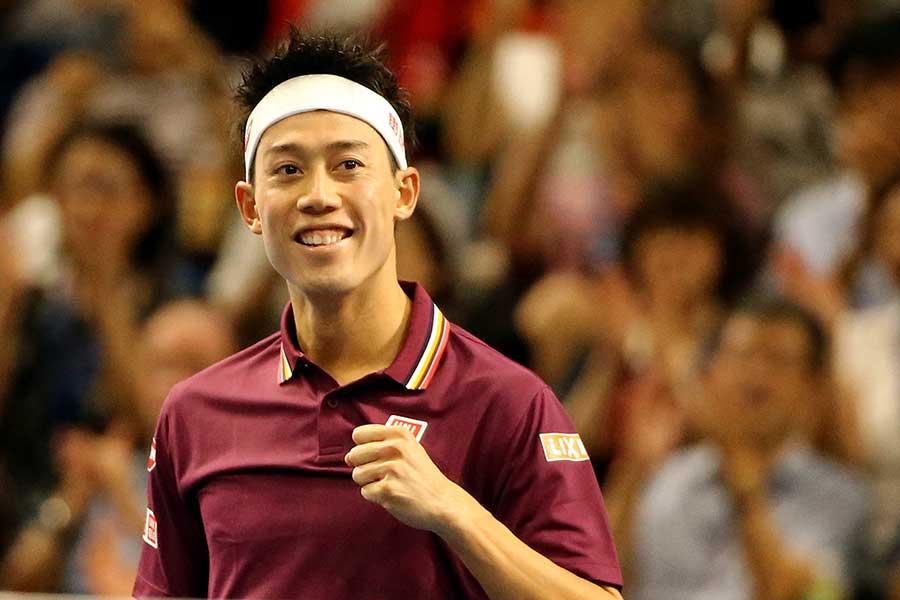 男子テニスのツアー最終戦「Nitto ATPファイナルズ」に出場する錦織圭【写真:Getty Images】
