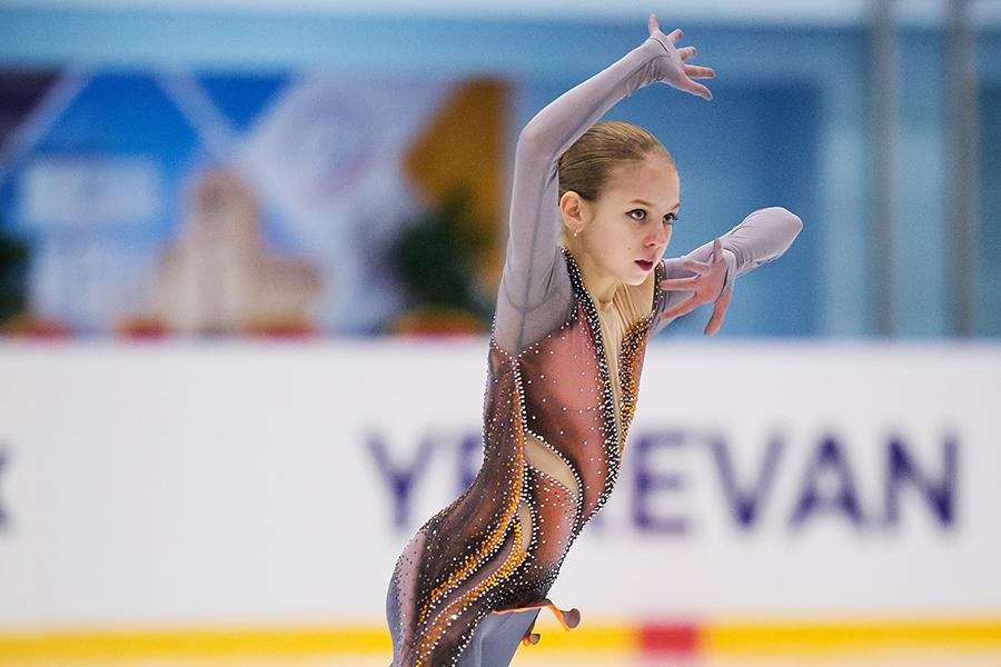4回転ルッツを決めた14歳アレクサンドラ・トルソワ【写真:Getty Images】