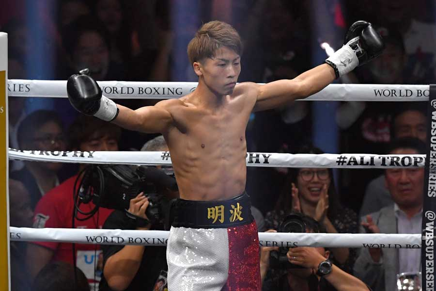 WBSSバンタム級1回戦を70秒で突破したWBA王者・井上尚弥【写真:Getty Images】