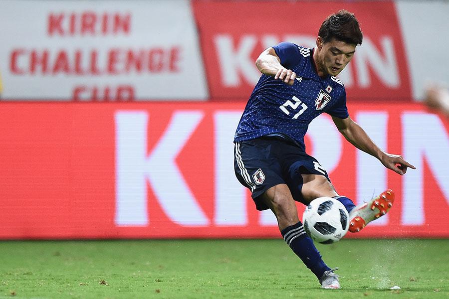 サッカーの日本代表MF堂安律【写真:Getty Images】