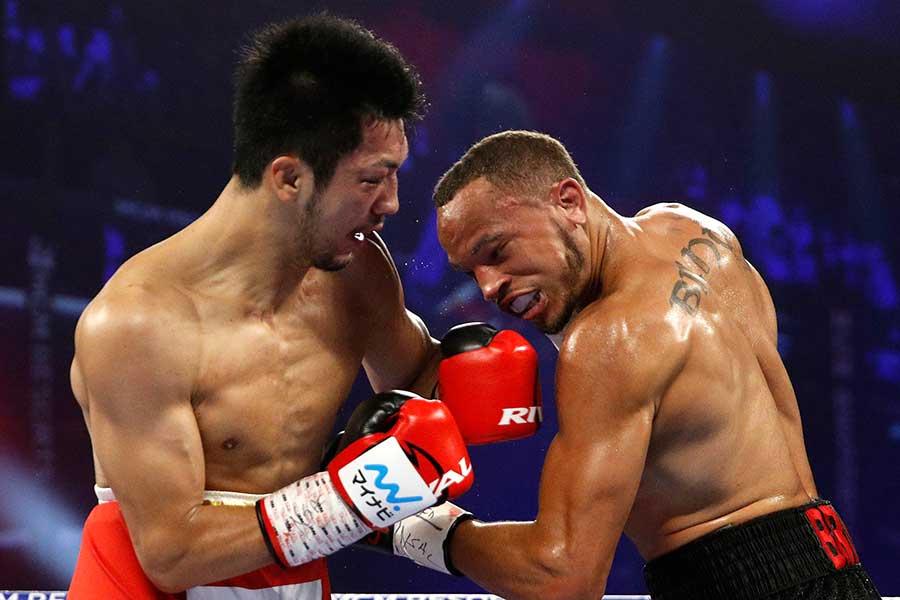 前回対戦した際の村田諒太(左)とロブ・ブラント【写真:AP】