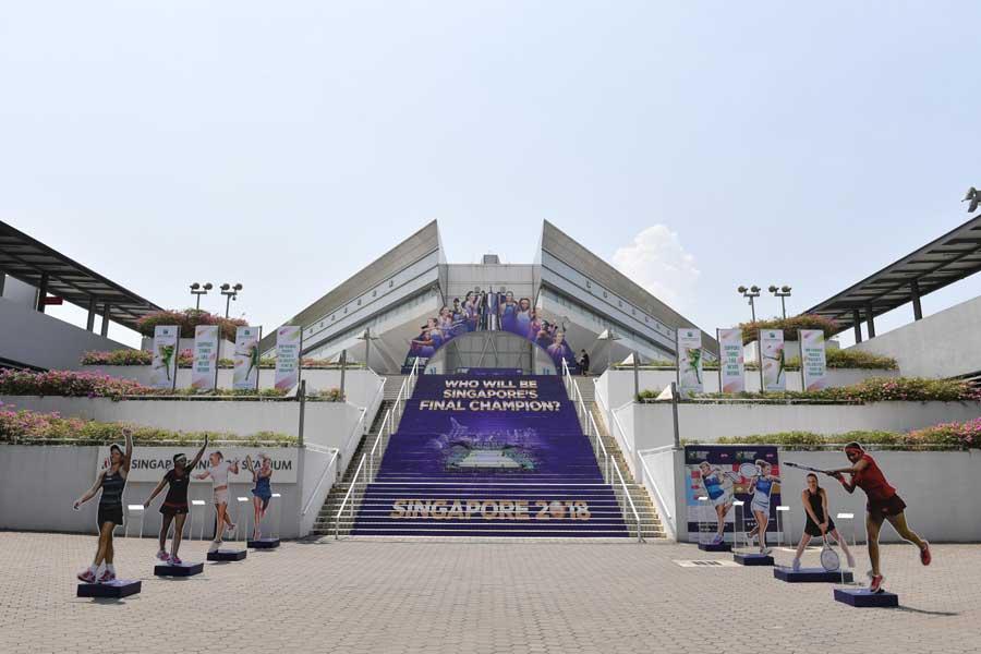 WTAファイナルがシンガポールで行われる【写真:小林 靖】