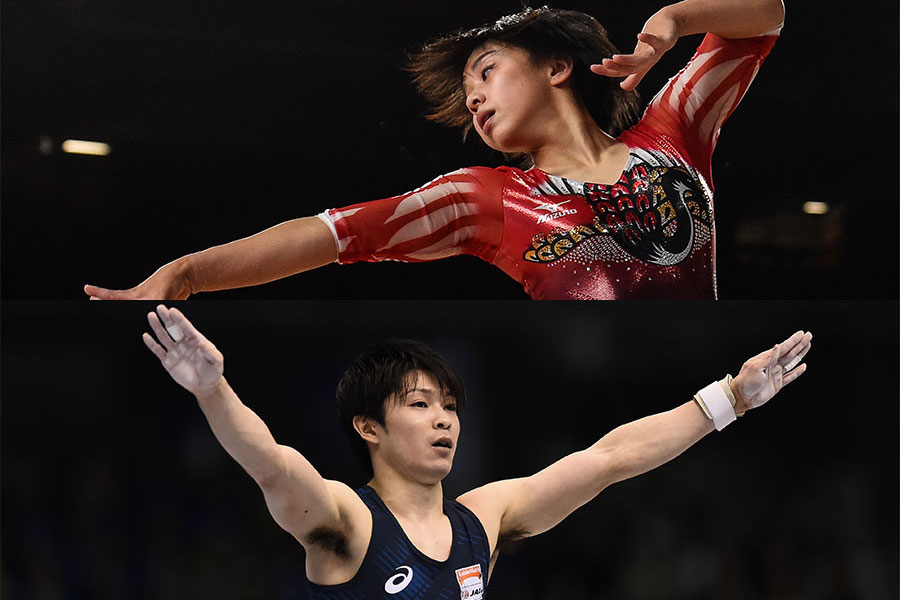 体操ニッポンで期待がかかる村上茉愛(上)と内村航平【写真:Getty Images】