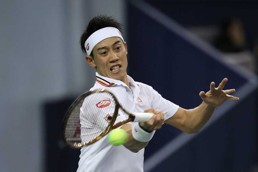ATPファイナル出場に期待がかかる錦織圭【写真:Getty Images】