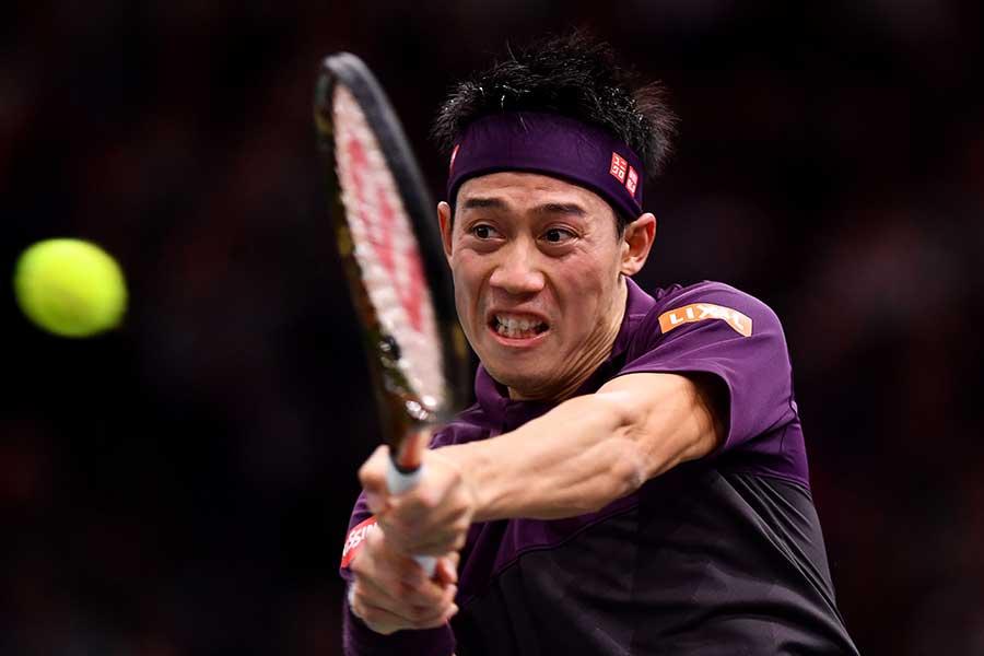 「Nitto ATPファイナルズ」に出場する錦織【写真:Getty Images】