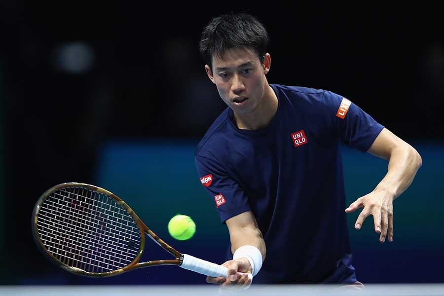 「Nitto ATPファイナルズ」に出場する錦織圭【写真:Getty Images】
