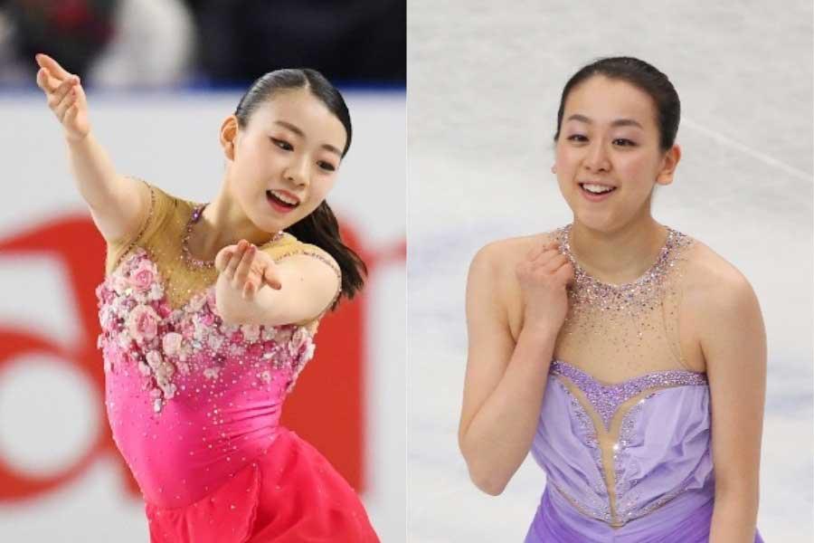 紀平梨花(左)のアイドルである浅田真央さん【写真:Getty Images】