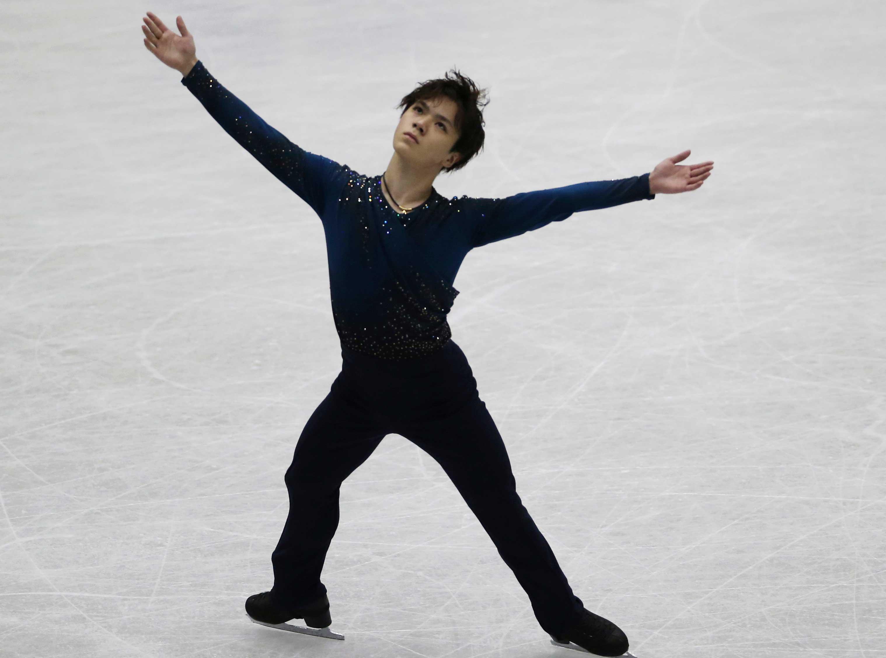 2位で終えた宇野昌磨【写真:Getty Images】