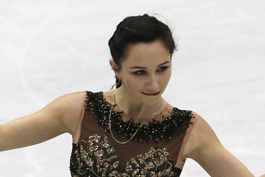 NHK杯で銅メダルを獲得したトゥクタミシェワ【写真:AP】