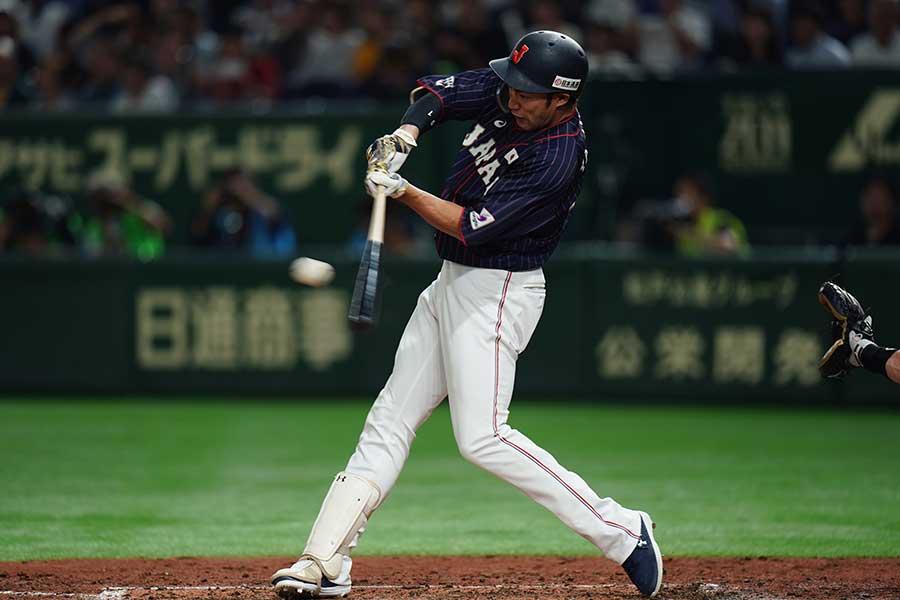 日米野球で活躍を見せるソフトバンクの柳田【写真:Getty Images】