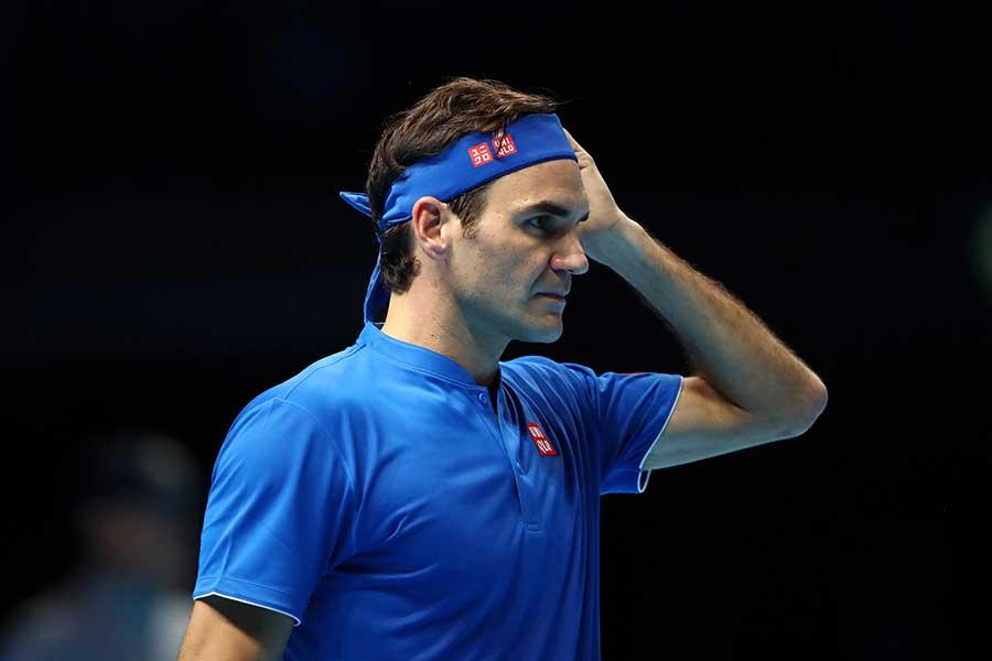 フェデラーは錦織相手にストレート負けを喫した【写真:Getty Images】