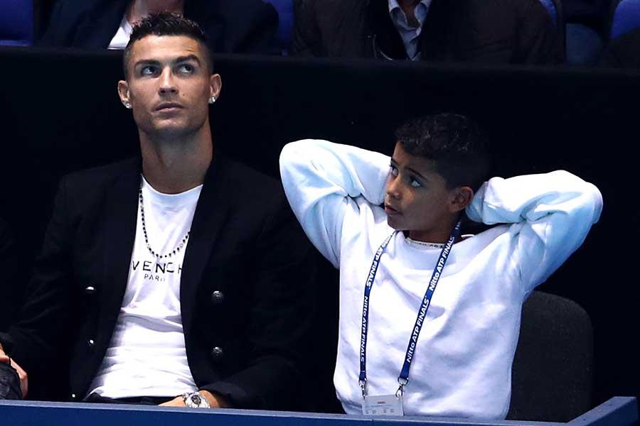 男子テニスツアー「Nitto ATPファイナルズ」を観戦したクリスティアーノ・ロナウド【写真:Getty Images】