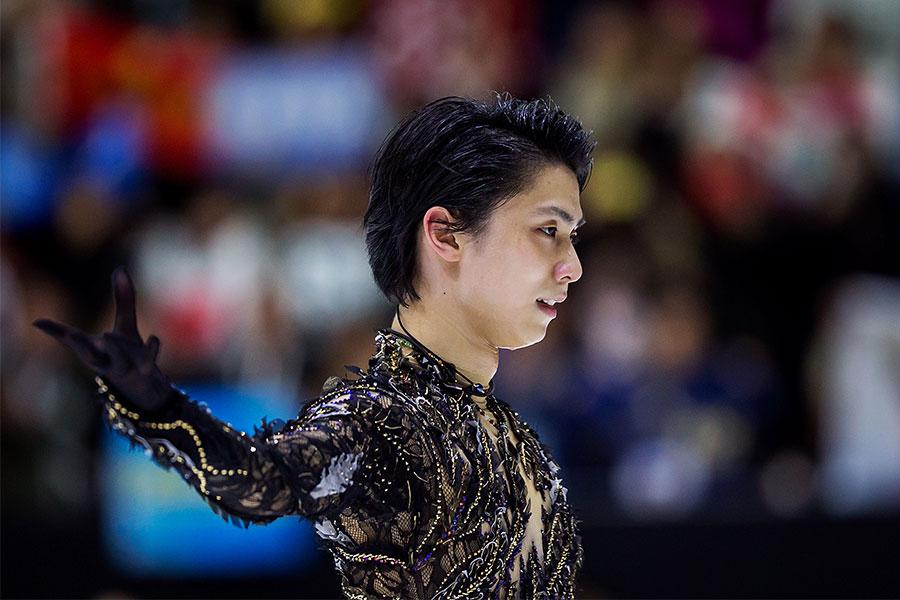 フィンランド大会で見事な演技を見せた羽生結弦【写真:Getty Images】