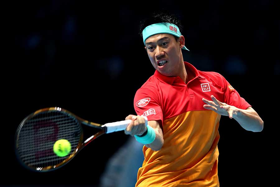 「Nitto ATPファイナルズ」で準決勝進出を狙う錦織【写真:Getty Images】
