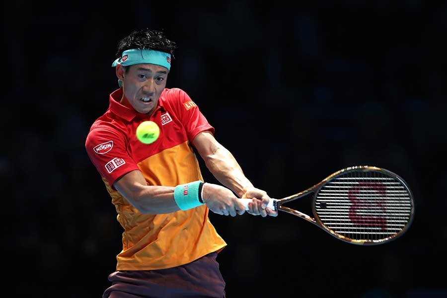 「Nitto ATPファイナルズ」で1次リーグ敗退が決まった錦織【写真:Getty Images】