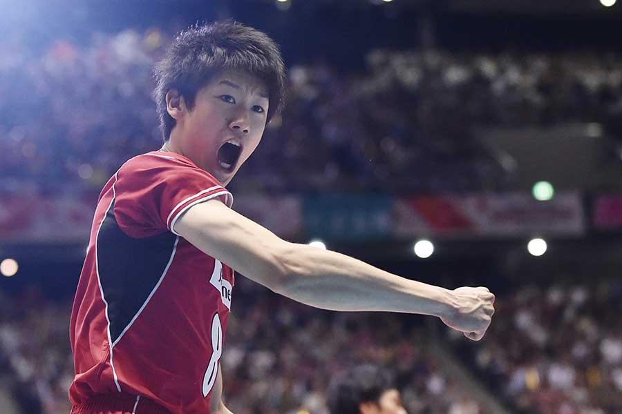 バレーボール男子日本代表の石川祐希【写真:Getty Images】