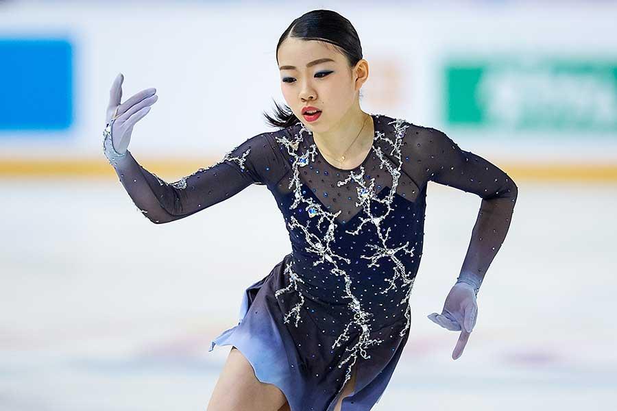 逆転優勝を決めた紀平梨花【写真:Getty Images】