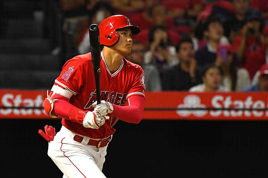 MLB1年目で22本塁打を放ったエンゼルス・大谷翔平【写真:Getty Images】