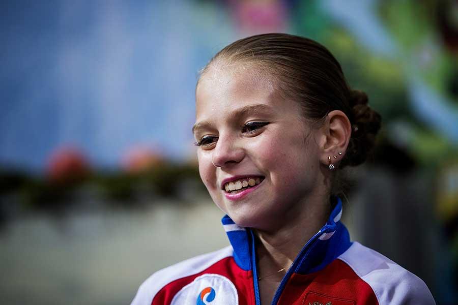 ジュニア女子2位に入ったアレクサンドラ・トルソワ【写真:Getty Images】
