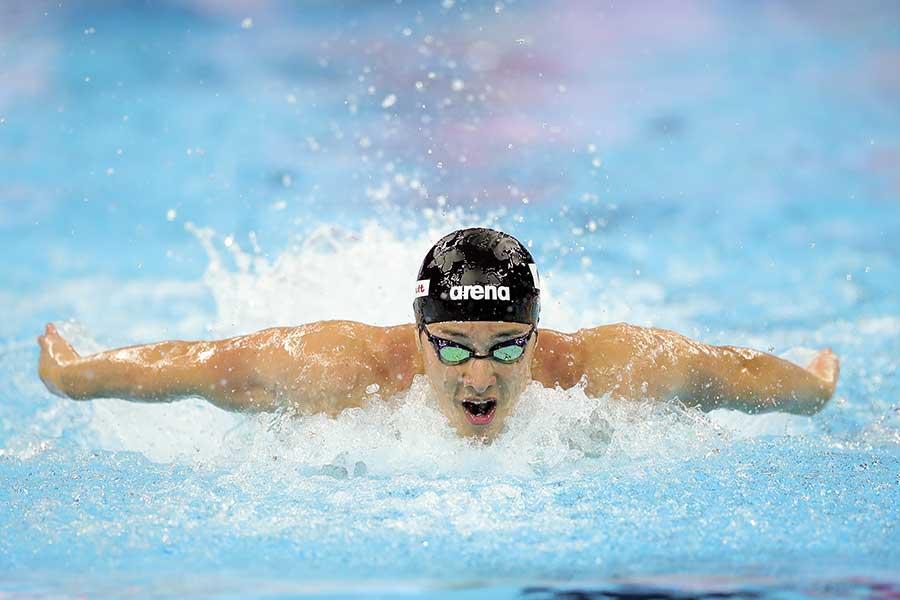 男子200メートルバタフライで世界新記録を樹立した瀬戸大也【写真:Getty Images】