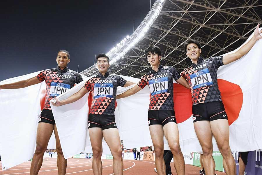 アジア競技大会・陸上男子400メートルリレーでは金メダルを獲得【画像提供:共同通信】
