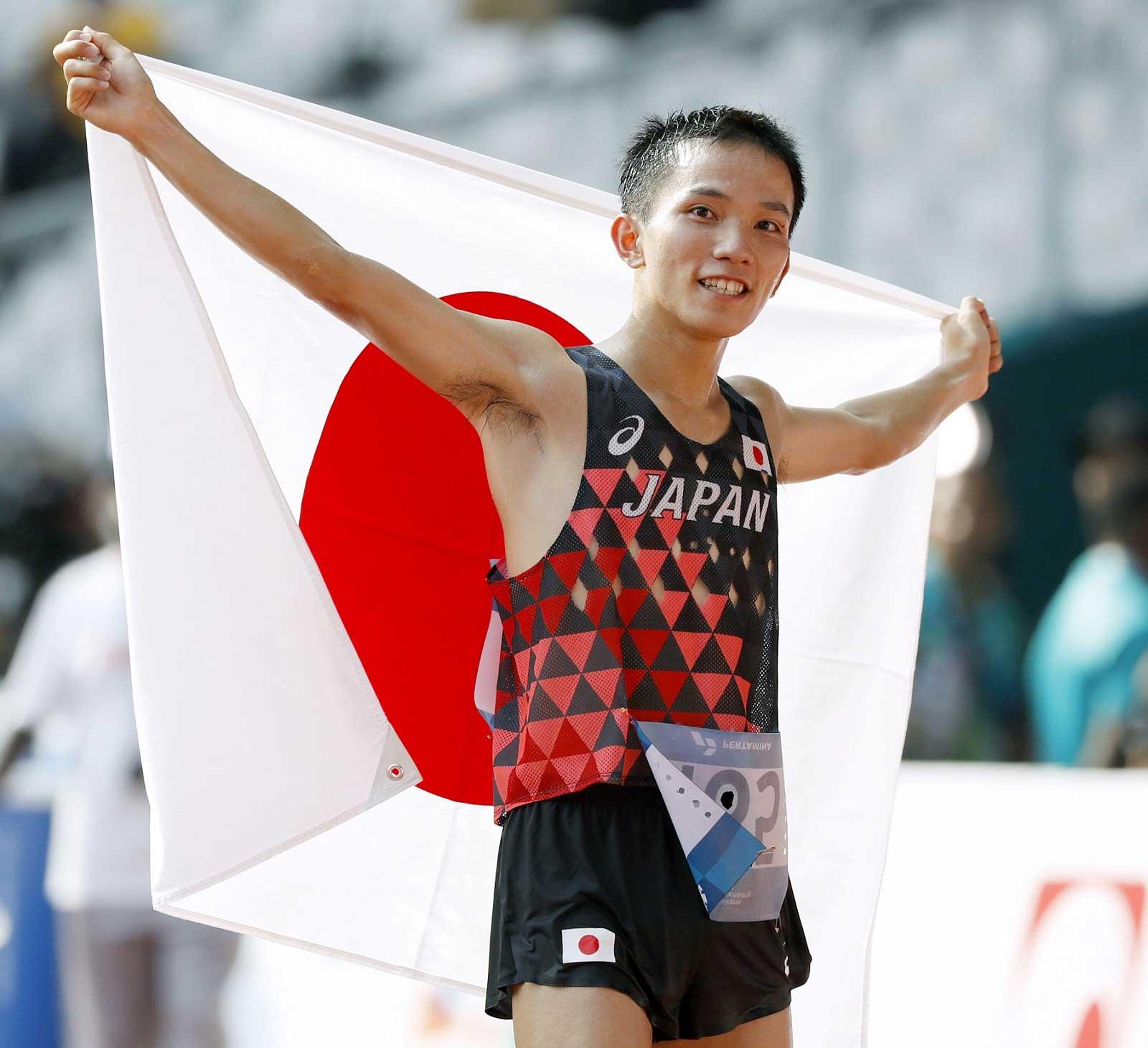 アジア競技大会・男子マラソンで32年ぶりに金メダルを獲得した井上大仁【画像提供:共同通信】