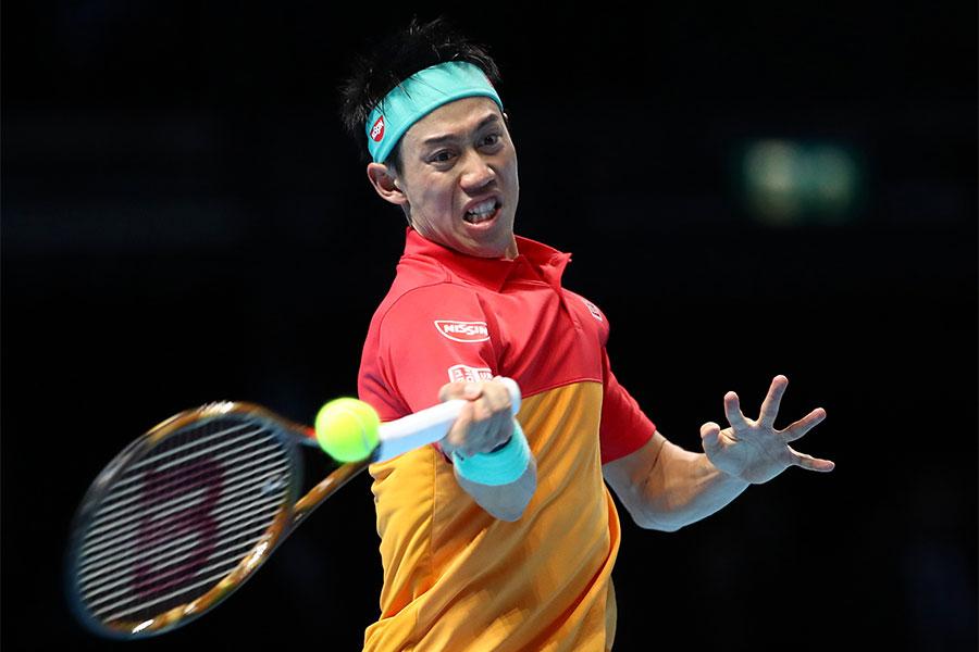 男子テニスの世界ランク9位・錦織圭【写真:Getty Images】