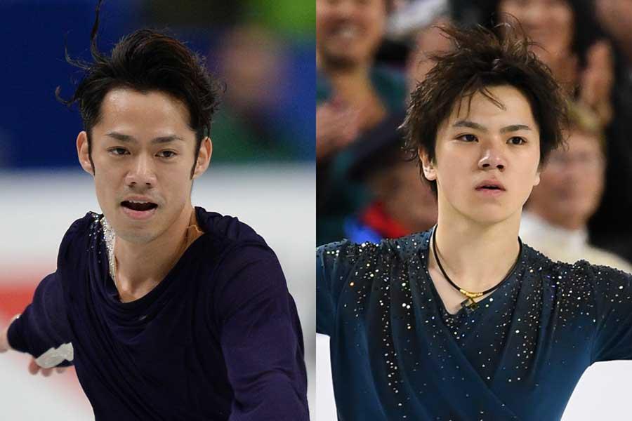全日本選手権男子は5年ぶり出場の高橋(左)と宇野に注目が集まる【写真:Getty Images】