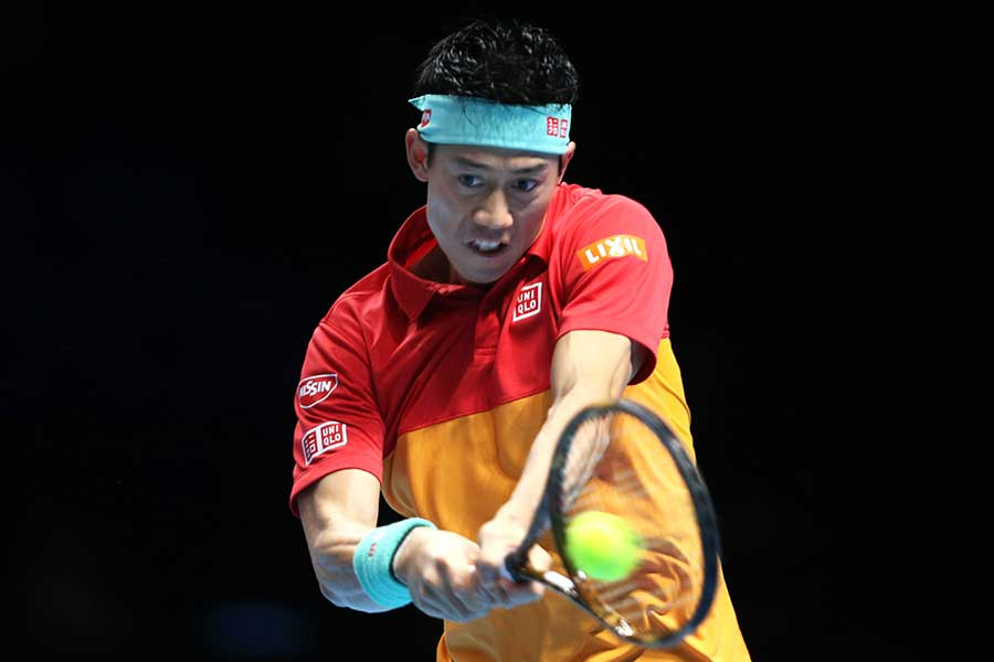 「Nitto ATPファイナルズ」に出場した錦織圭【写真:Getty Images】