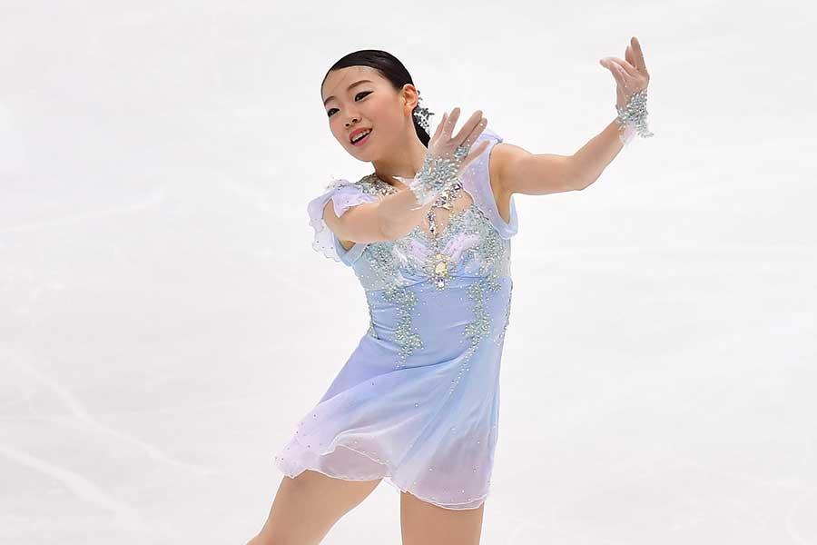 全日本選手権のSPで紀平梨花【写真:Getty Images】