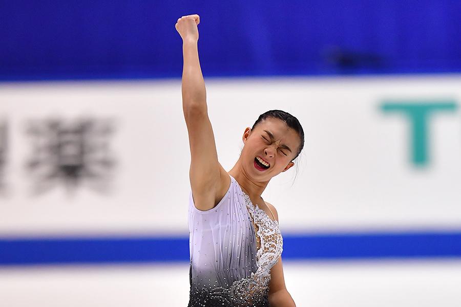 全日本選手権初優勝を遂げた坂本花織【写真:Getty Images】