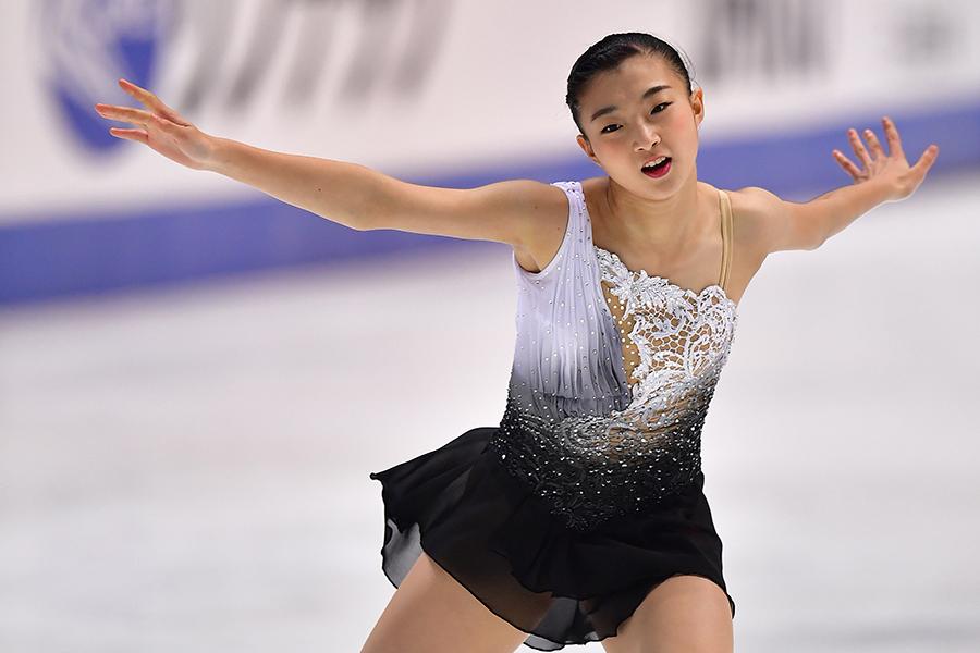 逆転で全日本選手権初優勝を飾った坂本花織【写真:Getty Images】