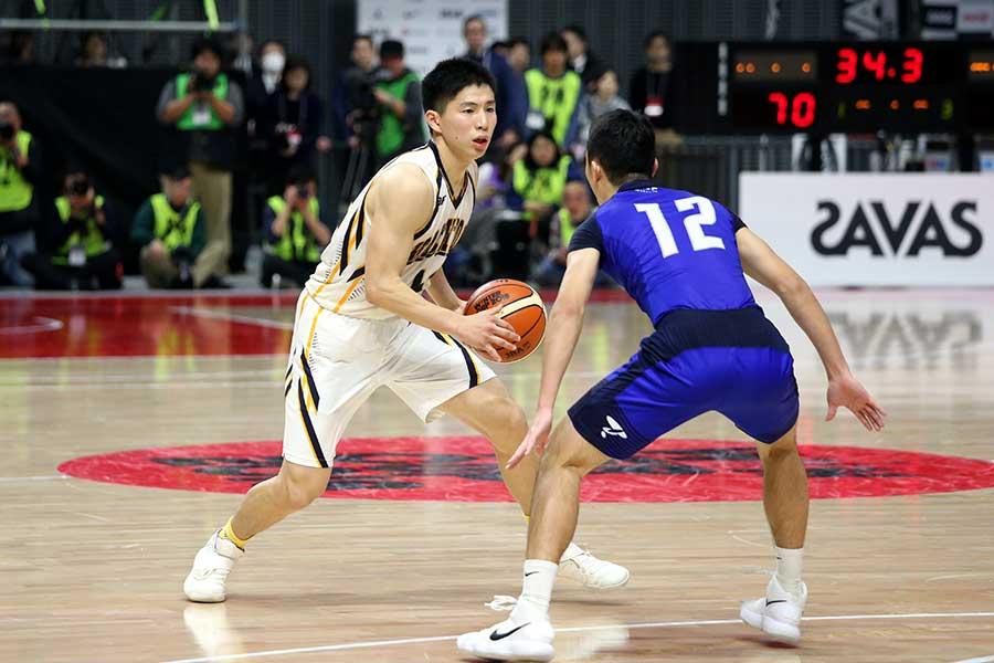 八王子学園八王子のエース木村は最多の39得点を挙げた【写真:平野貴也】