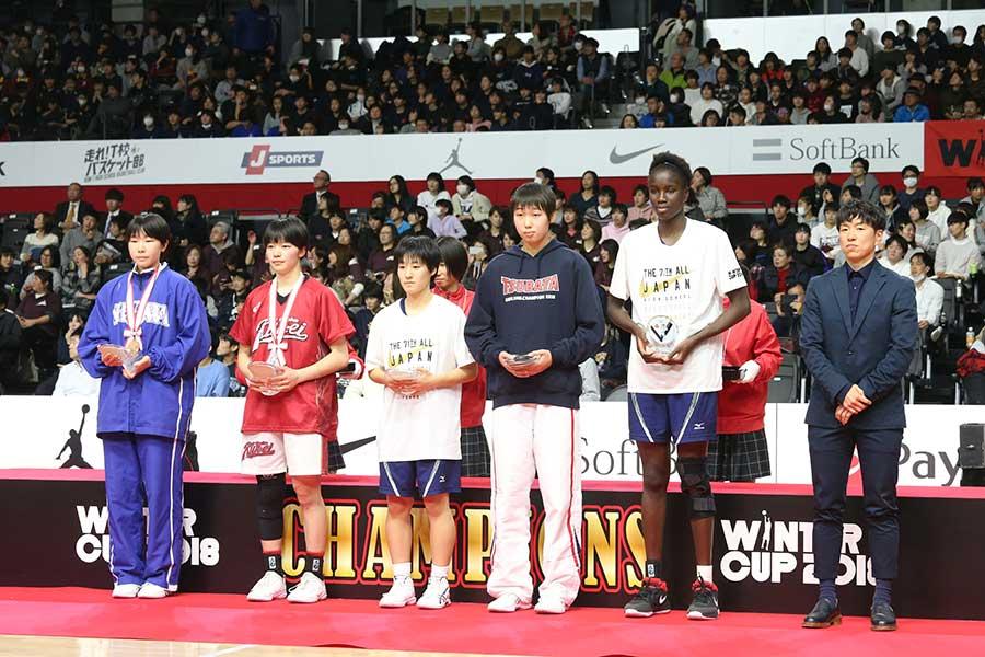 大会優秀選手5人が選出された【写真:平野貴也】