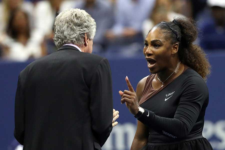 全米オープンでの行いが物議を醸したセリーナ・ウィリアムズ【写真:Getty Images】