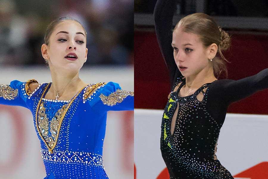 ロシア選手権で下剋上を狙うコストルナヤ(左)とトルソワ【写真:Getty Images】