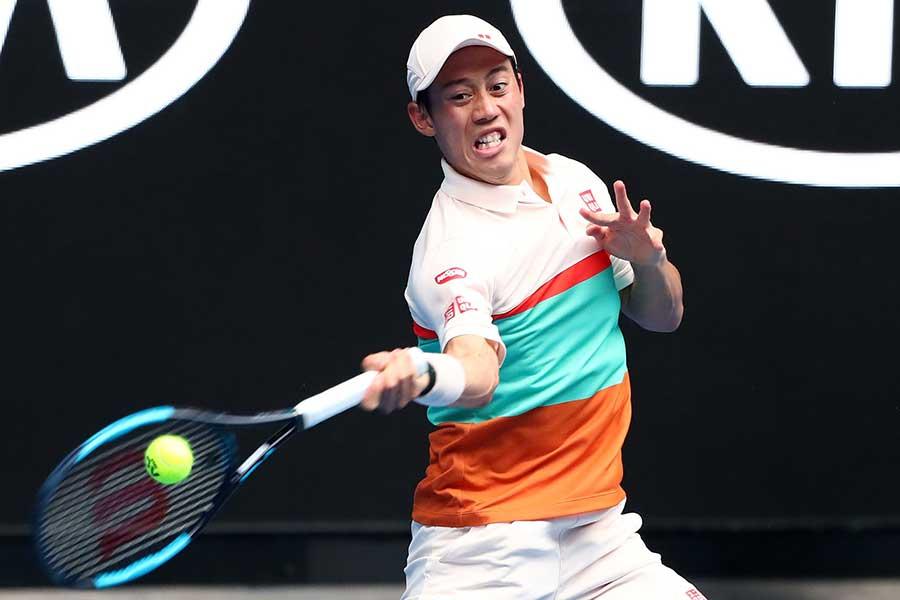全豪オープンで3回戦に進出した錦織圭【写真:Getty Images】