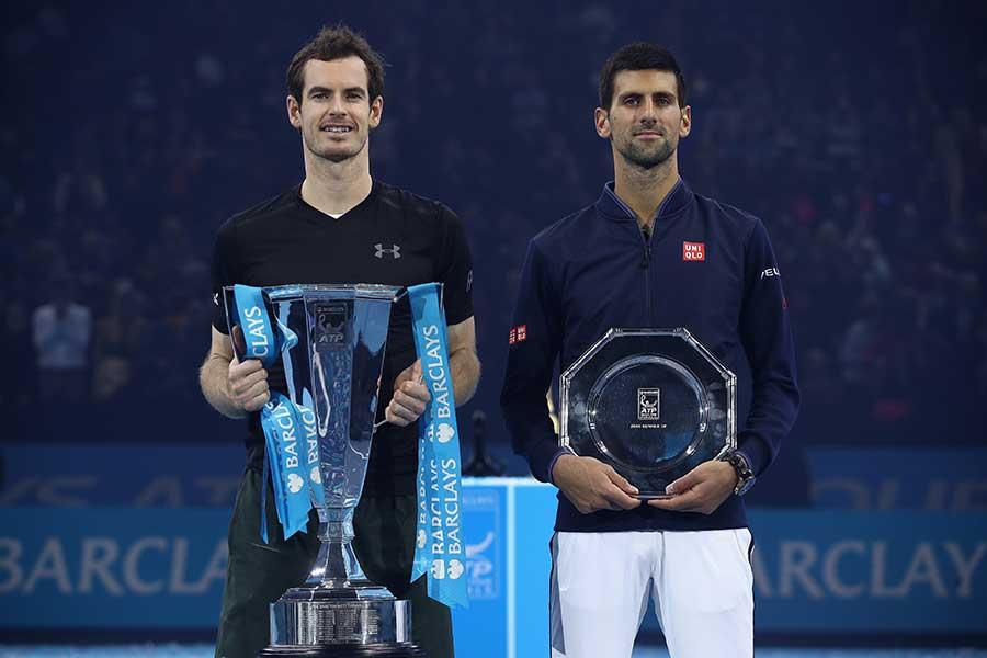テニスTV公式がマレー(左)とジョコビッチの初対戦を紹介している【写真:Getty Images】